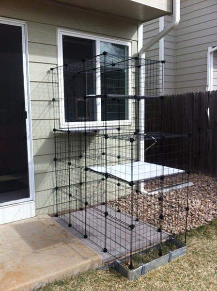 Build A Do It Yourself Outdoor Cat Enclosure Or Run Using