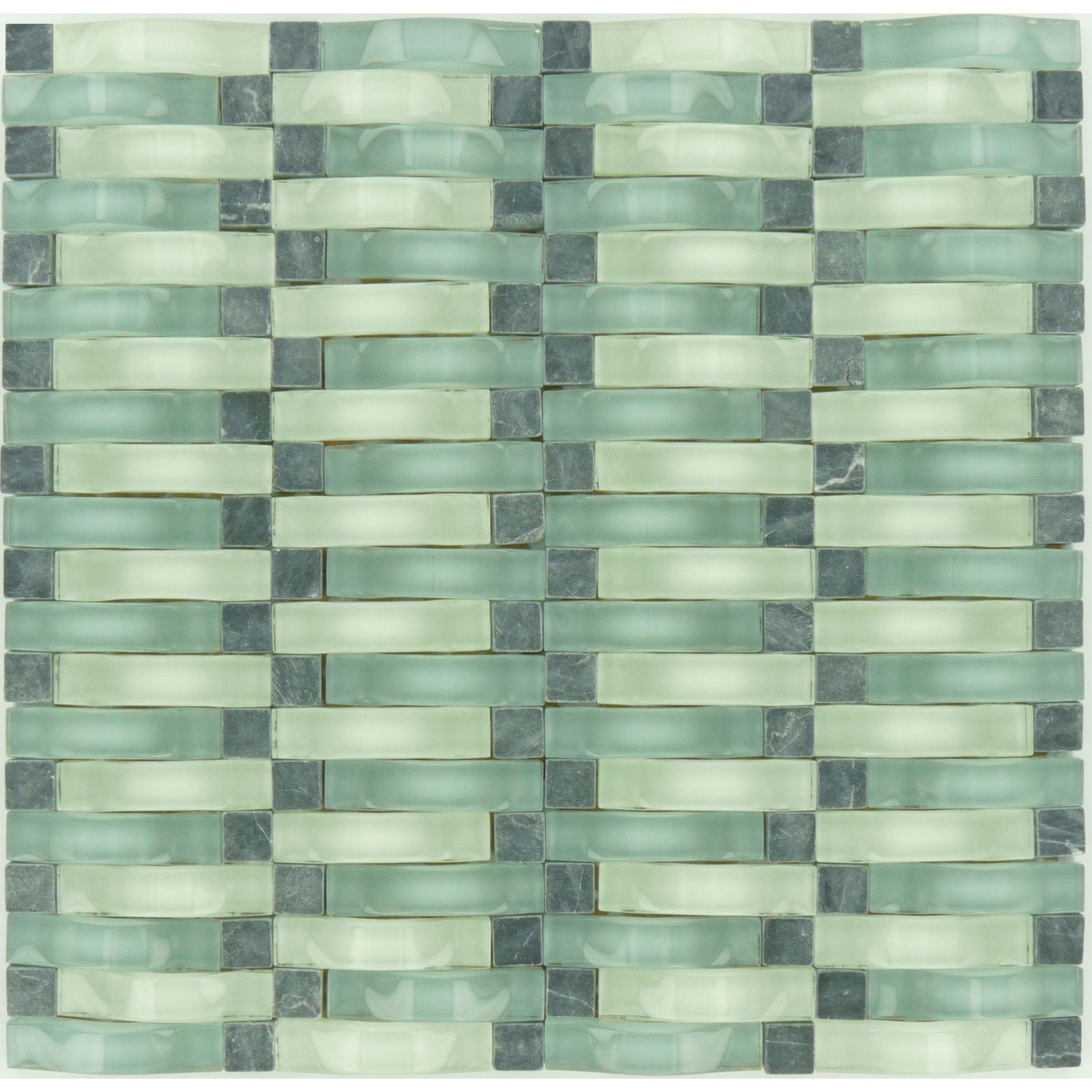 Sheet Size 12 1 8 X 12 3 8 Tile Size 5 8 X 2 1 2 Tiles Per Sheet 160 Tile Thickness 1 4 She Sea Glass Tile Glass Tile Stone Backsplash