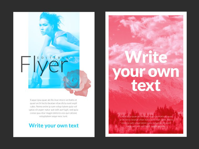 editable design flyer maker with a great layout swappable images