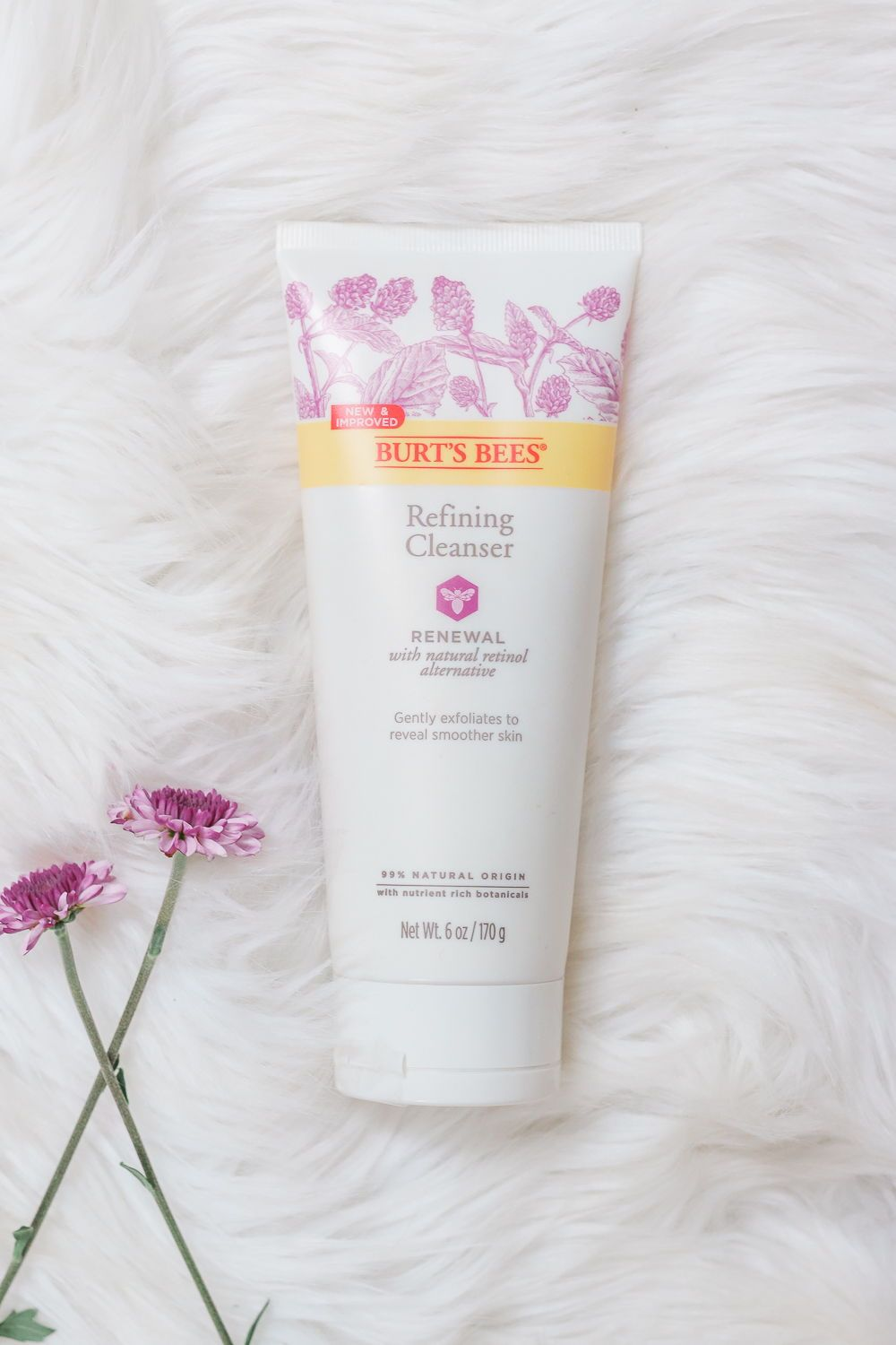 Burt's Bees Renewal Skincare Review + DIY Flower Gift Box