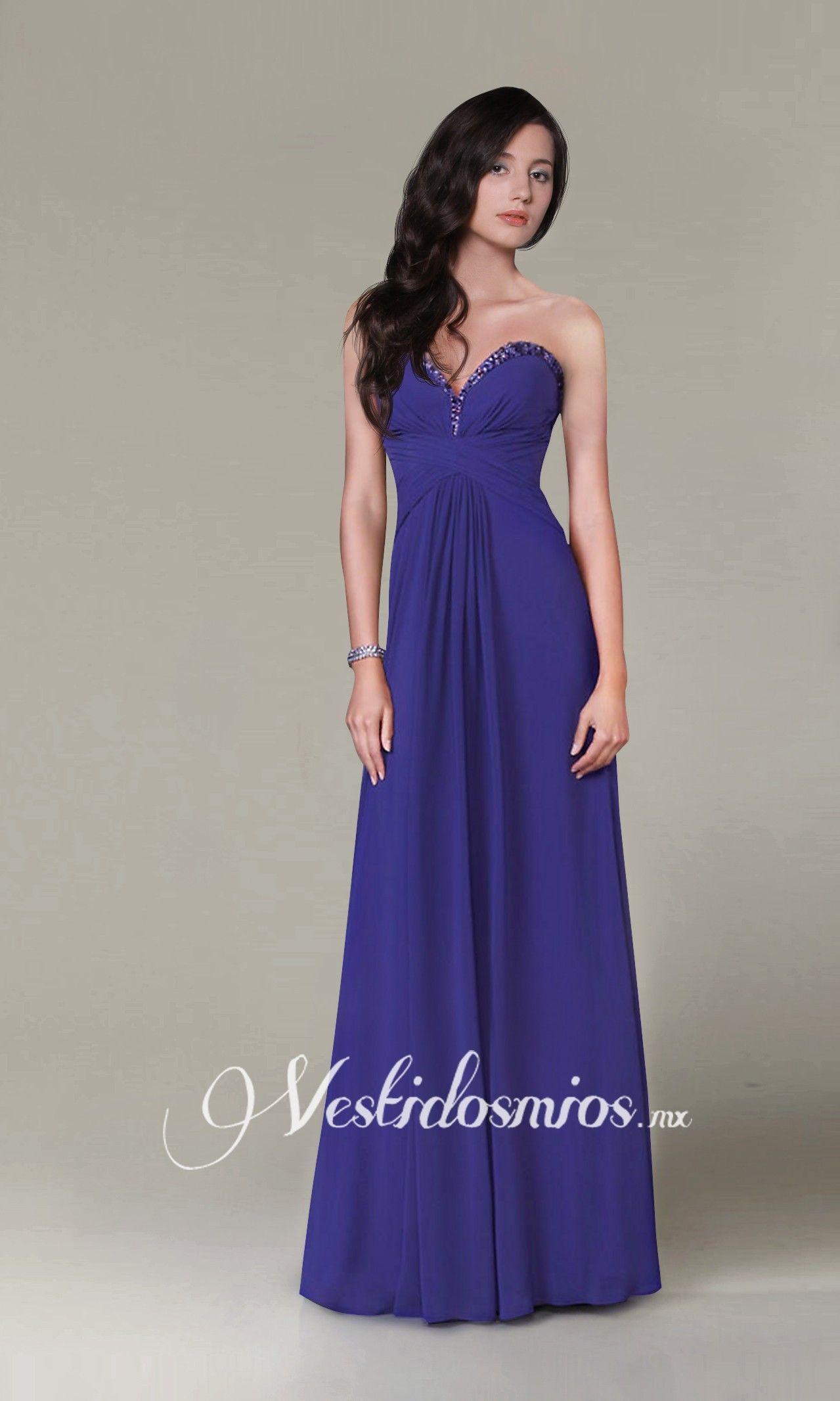 Escote Corazon Vestido Largo | Vestidos | Pinterest | Vestiditos ...