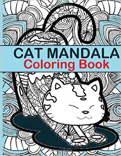 Simple Large Coloring Book 60 Cat Mandala Coloring Book