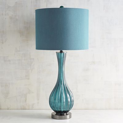 It S On Summer Deals On Blue Glass Table Lamps