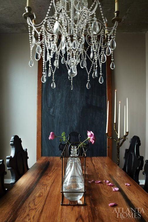 Wood \ crystal  Beautiful Salles à manger Pinterest Foyer, Le