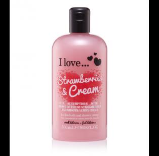 I Love... - Gel bain et douche - Fraises et crème