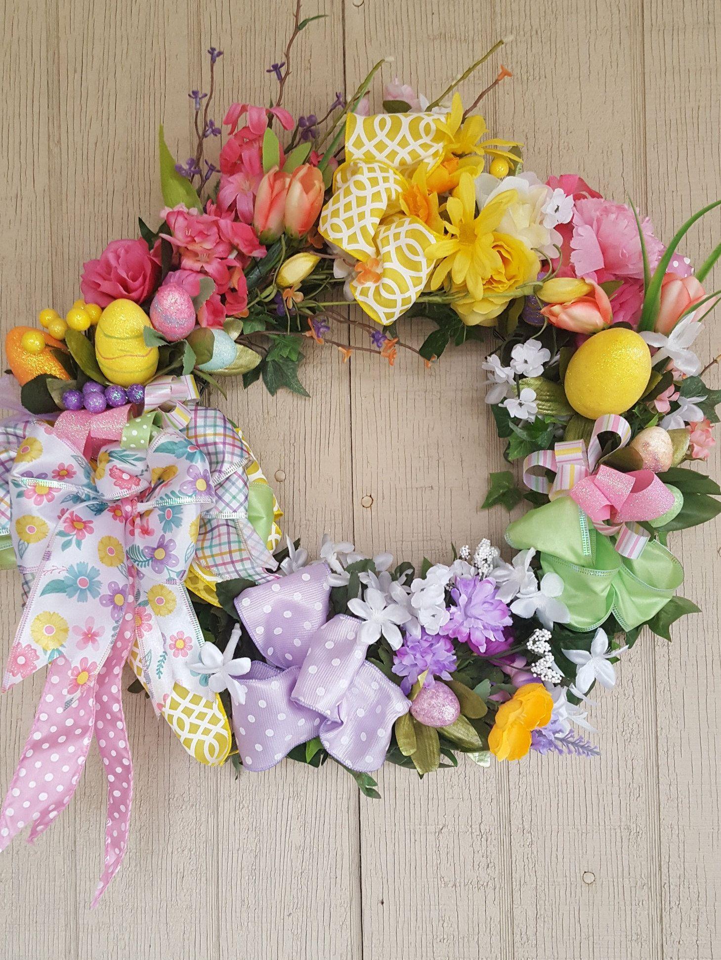 Springtime Easter Grapevine Wreath Diy spring wreath