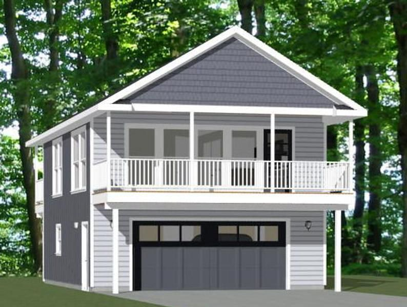 24x32 House 1 Bedroom 1 5 Bath 851 Sq Ft Pdf Floor Etsy In 2021 Building Plans House Garage Plans With Loft Garage Apartment Floor Plans