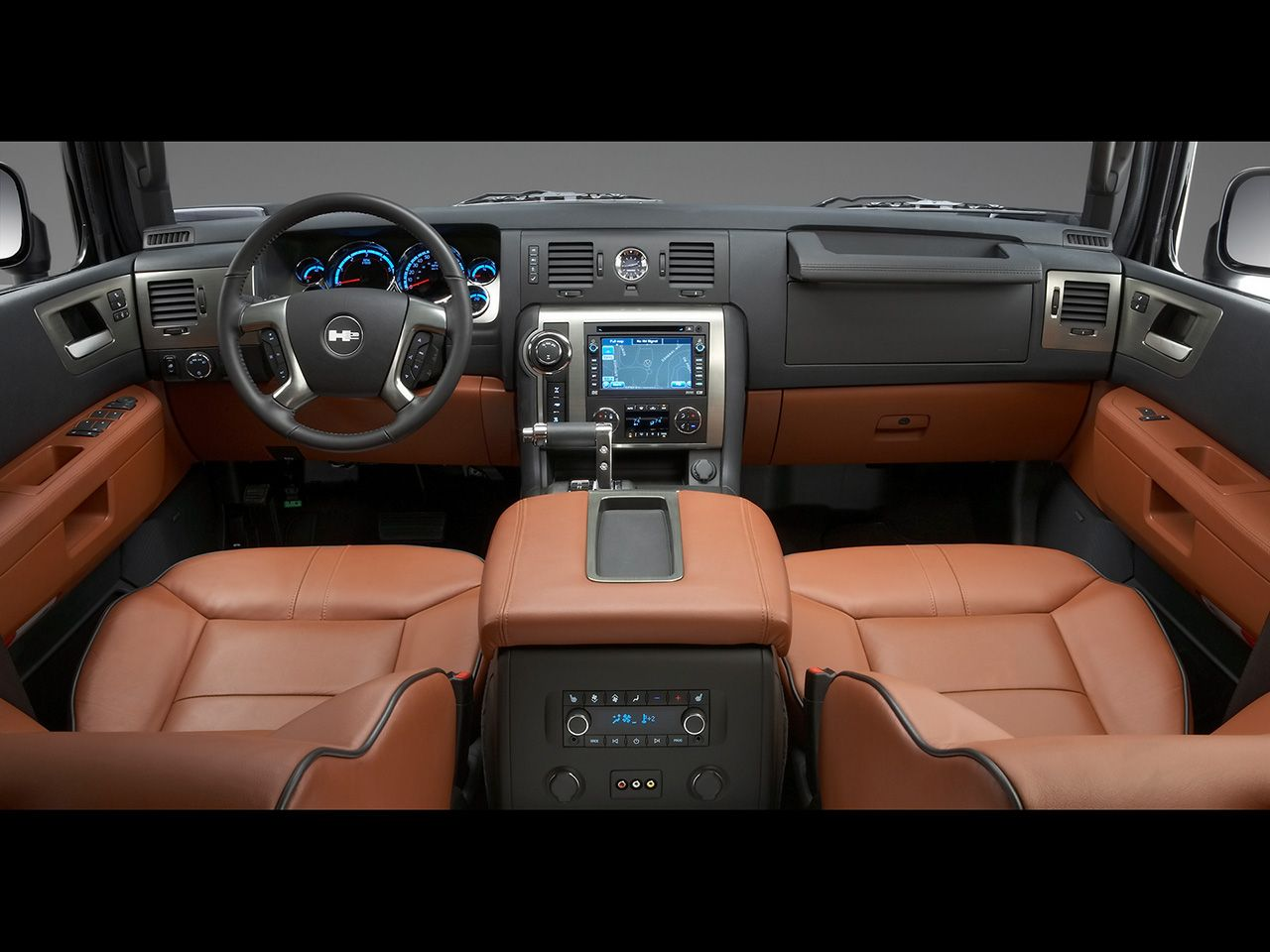 Hummer Interiors 2008 Hummer H2 Interior Rear Seating View 1280x960 Wallpaper Hummer