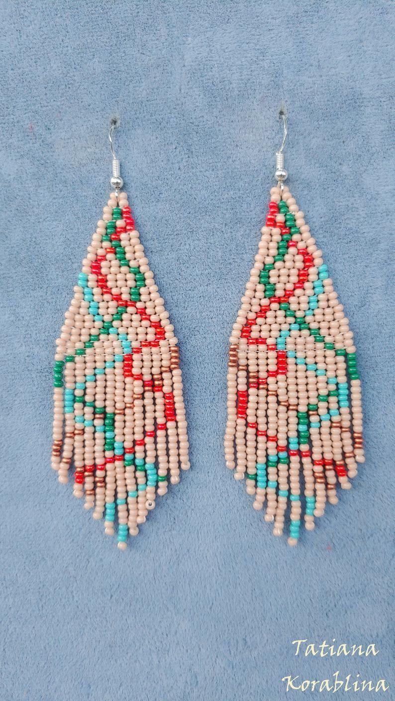 Author's beaded earrings evening earrings Seed bead  chandelier earrings Beadwork Fringe  earrings  Author's beaded earrings evening earrings Seed bead | Etsy  #Authors #Bead #beaded #beadwork #chandelier #earrings #evening #fringe #Seed