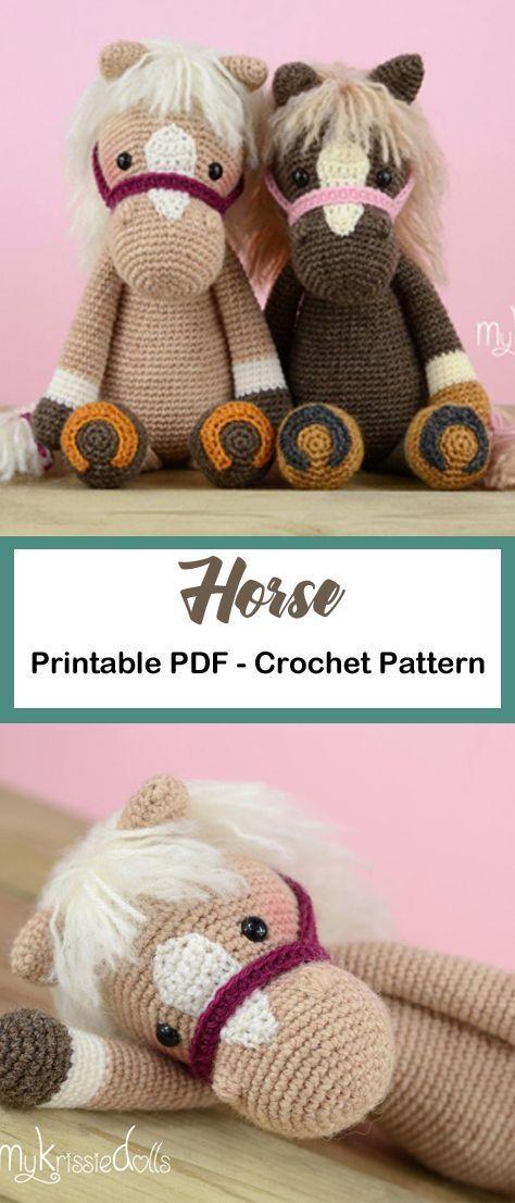 Make a cute horse toy. horse unicorn crochet pattern- crochet pattern pdf - amigurumi amorecraftylife.com #crochet #crochetpatter #Häkeln Sie Kleidung Amigurumi #horsepattern
