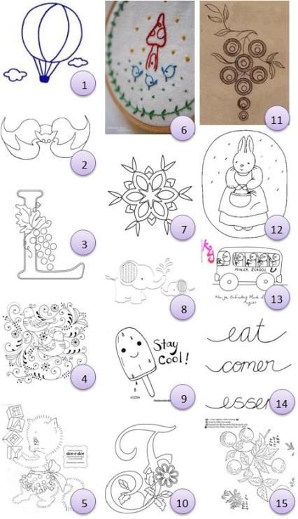 Free hand-embroidery patterns | Siluetas,redwork y dibujos ...