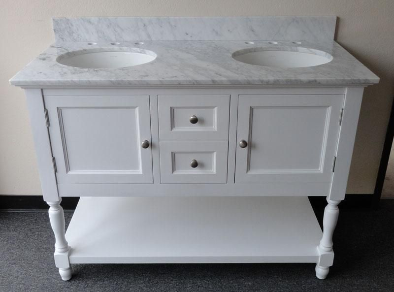 Attractive Westwood (double) 48 Inch USA Made Custom Plantation Style Bathroom Vanity