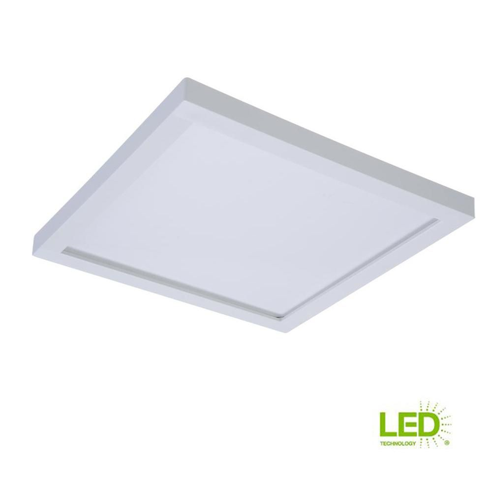 Halo Smd 5 In And 6 In 3000k Soft White Integrated Led Recessed Square Surface Mount Ceiling Light Trim At 90 Cri Smd6s6930wh Ceiling Lights Downlights Recessed Ceiling Lights