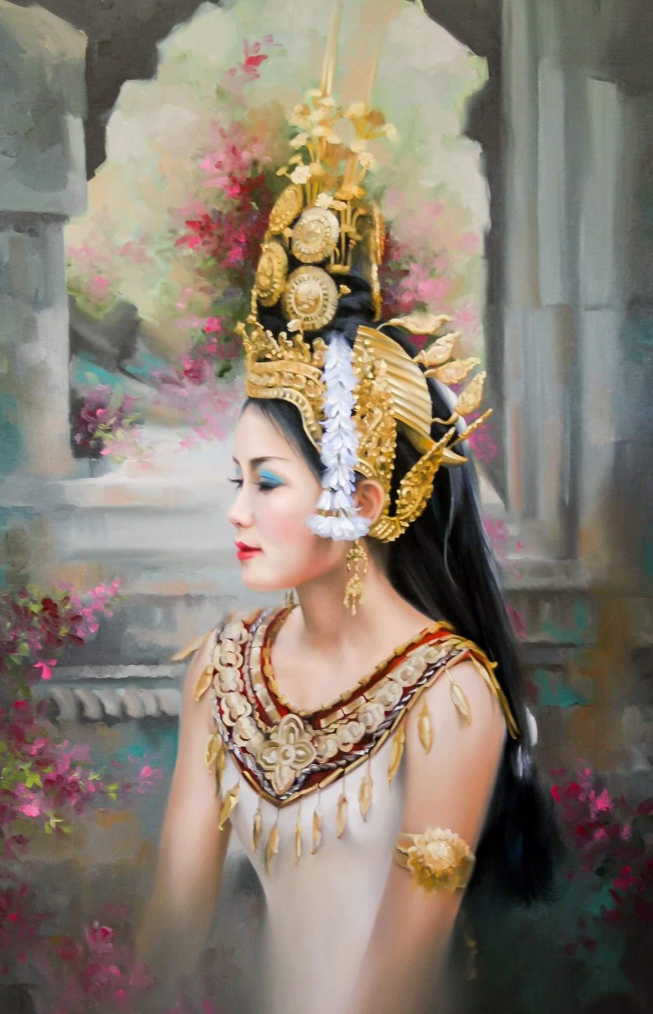 Pin by Kalyan Kim on APSARA OF CAMBODIA Bali painting