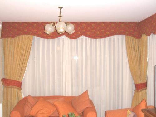 decorado con cenefas tela lino de de ancho color ocre para cortina gruesa cenefa