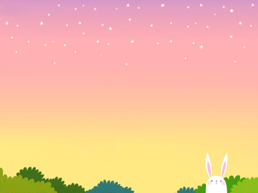 cartoon rabbit cartoon background background powerpoint abstract