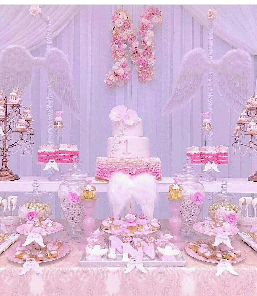 Heaven sent theme Angel baby shower, Birthday angel