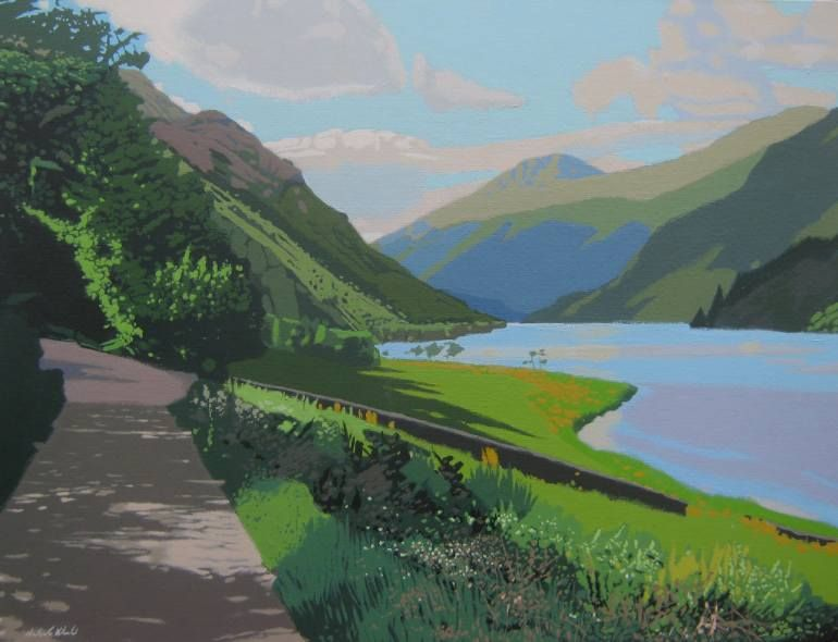 "Saatchi Art Artist Malcolm Warrilow; Painting, ""Loch Eck shadows"" #art"