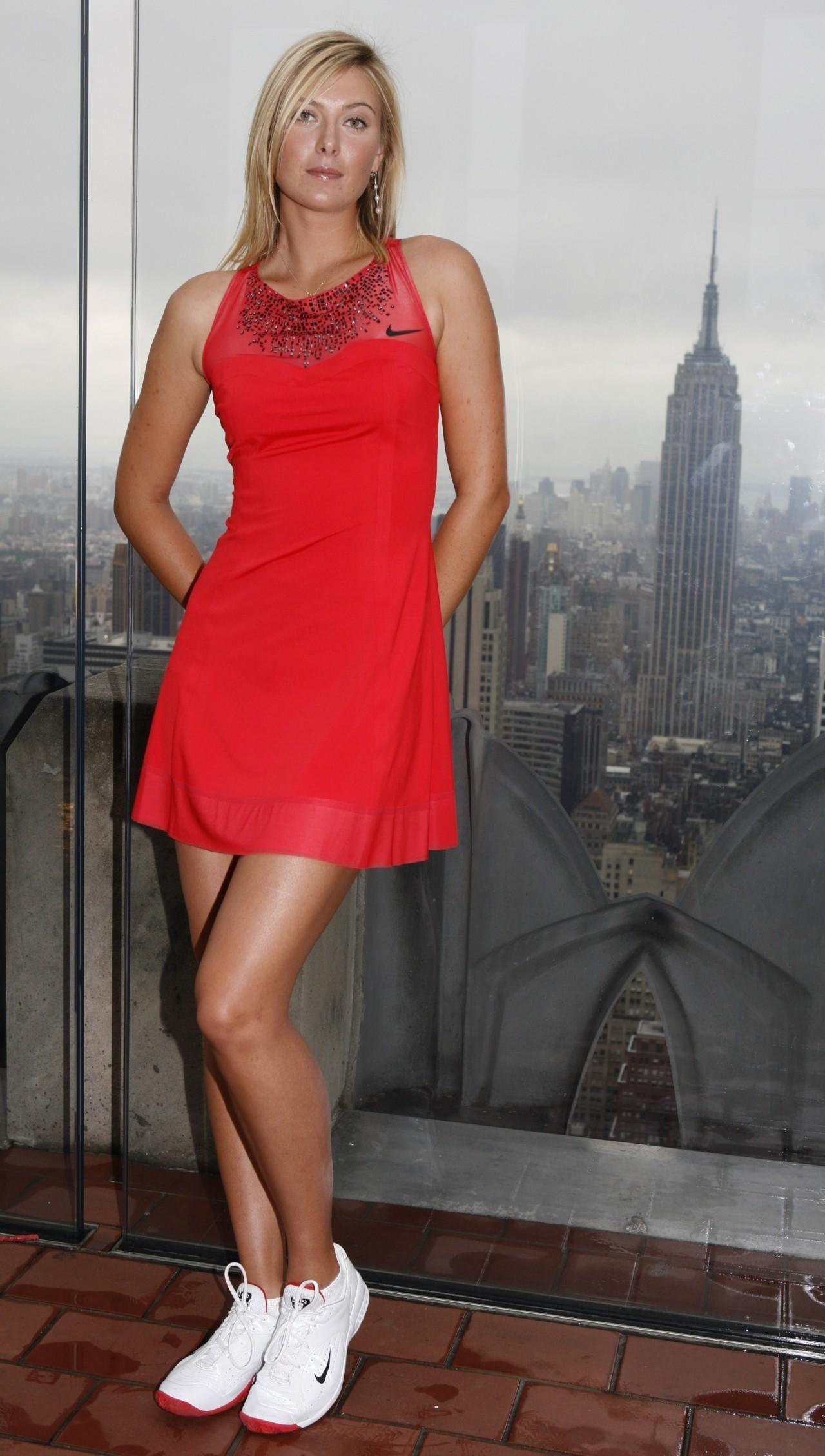 Maria Sharapova Debutes New Nike Dress Legs Tennis Dress Tennis Clothes Sharapova Tennis Dress