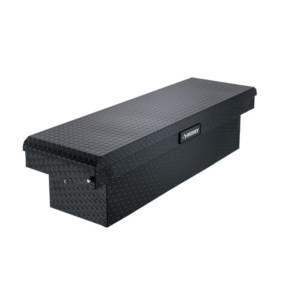 Husky 71 36 Matte Black Aluminum Full Size Crossbed Truck Tool Box 102100 53 01 Truck Tool Box Truck Tools Husky Tool Box