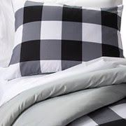 Checkered Buffalo Comforter Set (Twin) Black & White - Pillowfort™