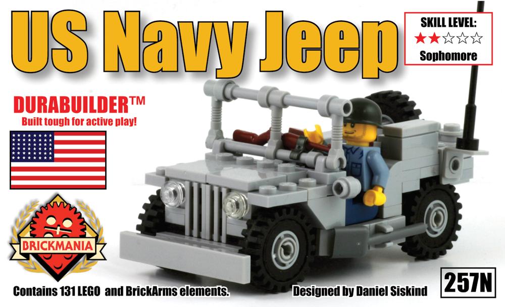 Brickmania - US Navy Jeep, $50.00 (http://www.brickmania.com/us-navy-jeep/)