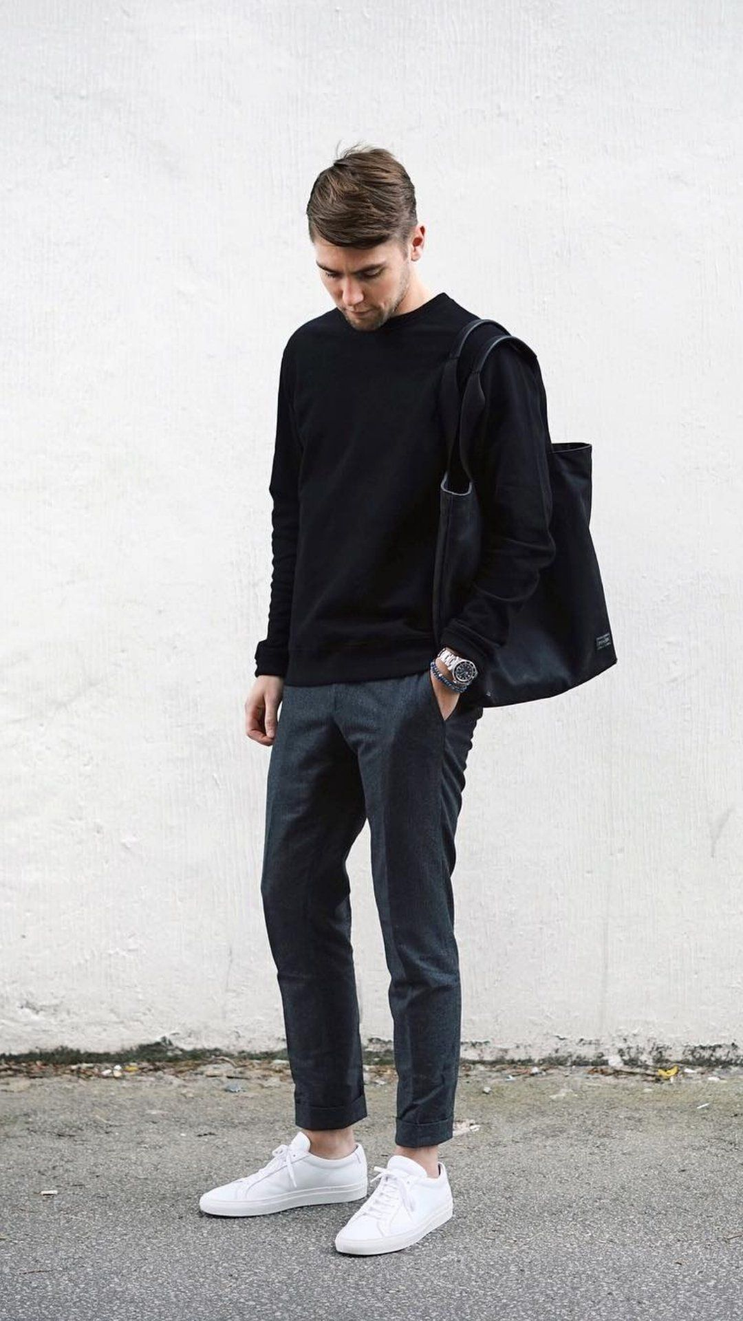 5 Best Outfits For The Minimalist At Heart Minimalist Fashion Men Stylish Mens Fashion Chinos Men Outfit