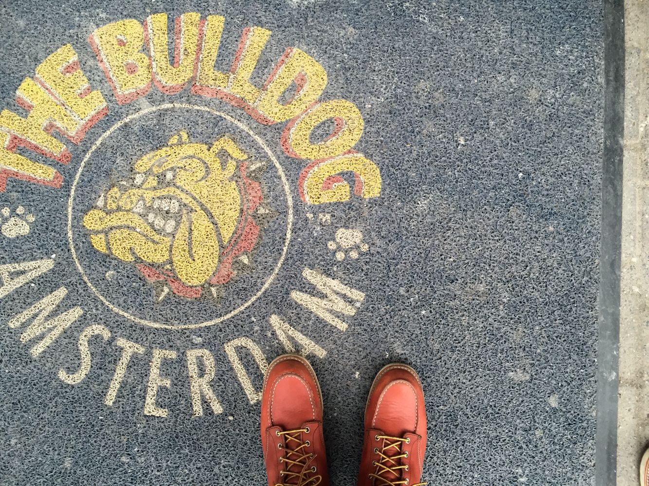 My RedWing at the bulldog in Amsterdam