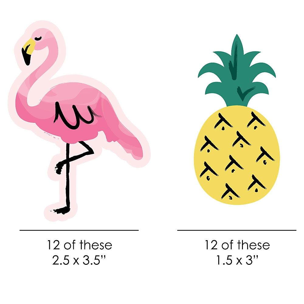 Flamingo Party Like A Pineapple Paper Straw Decor