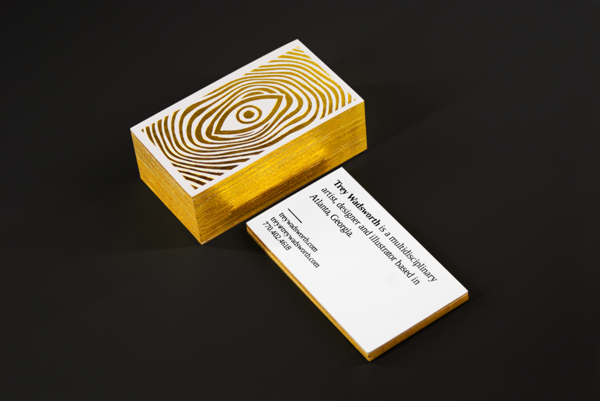 Personal business cards letterpressed with gold foil stamping and personal business cards letterpressed with gold foil stamping and edges by trey wadsworth colourmoves