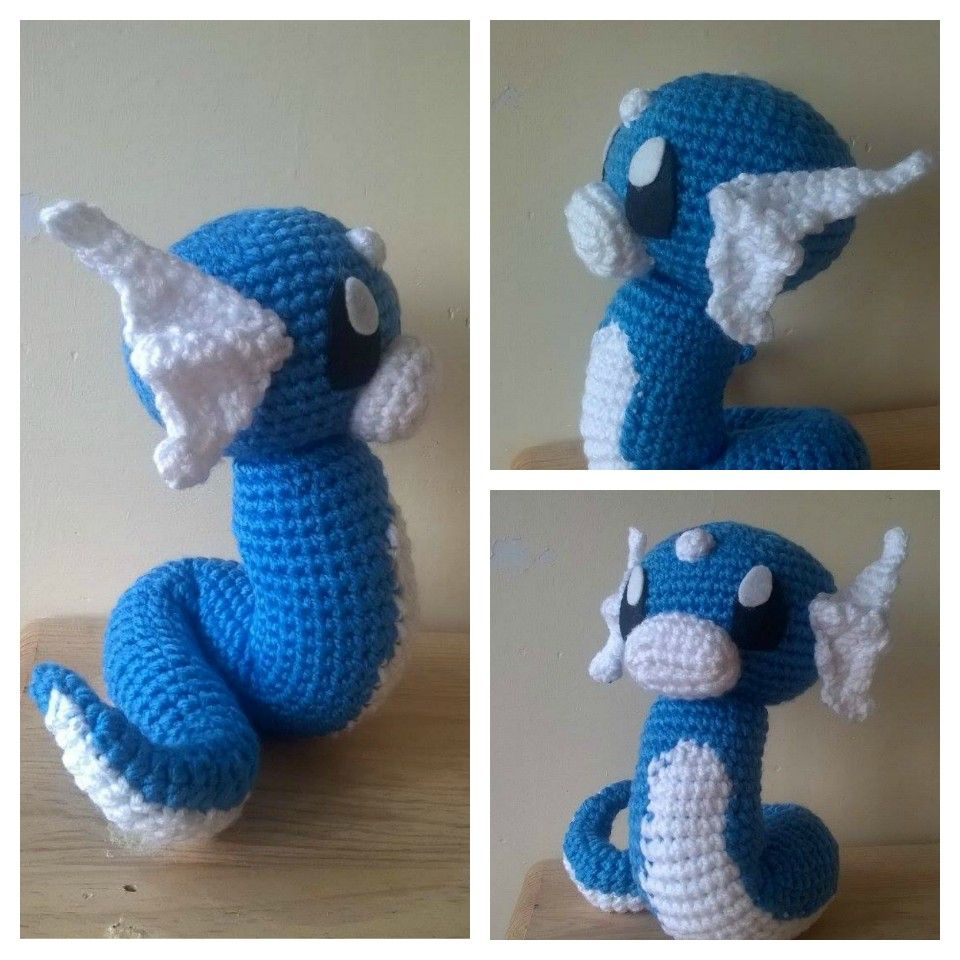Dratini crochet. Patrón muy pronto disponible. #Dratini #Pokemon ...