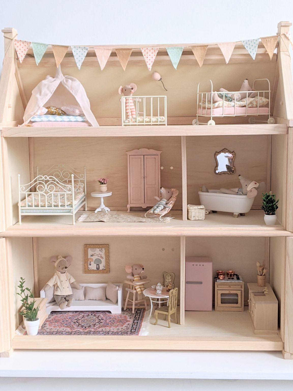 Maileg en Plantoys Victorian poppenhuis
