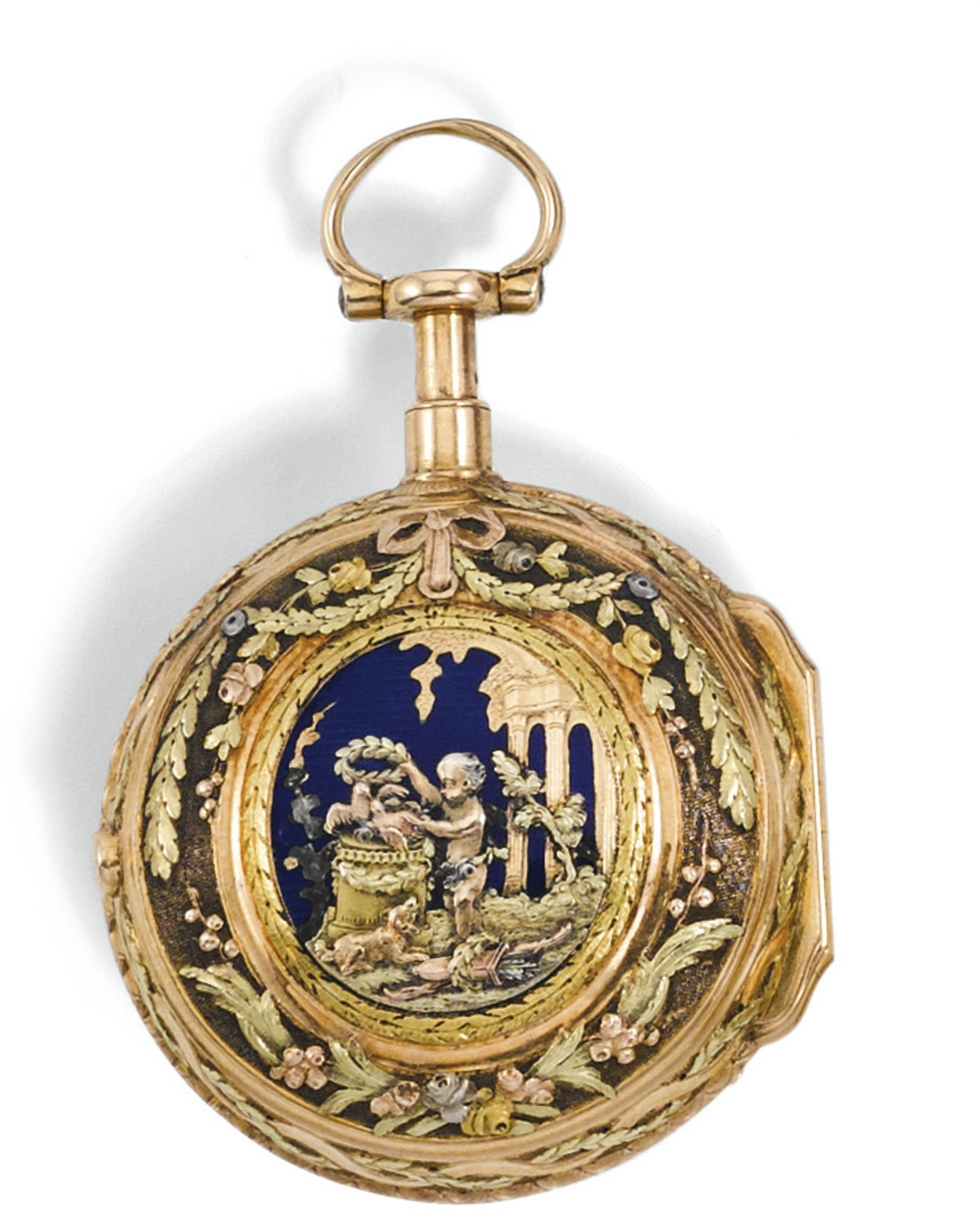 Jean antoine lepine a gold repeating verge watch with engraved and jean antoine lepine a gold repeating verge watch with engraved and enamel scene circa 1760 jeuxipadfo Image collections