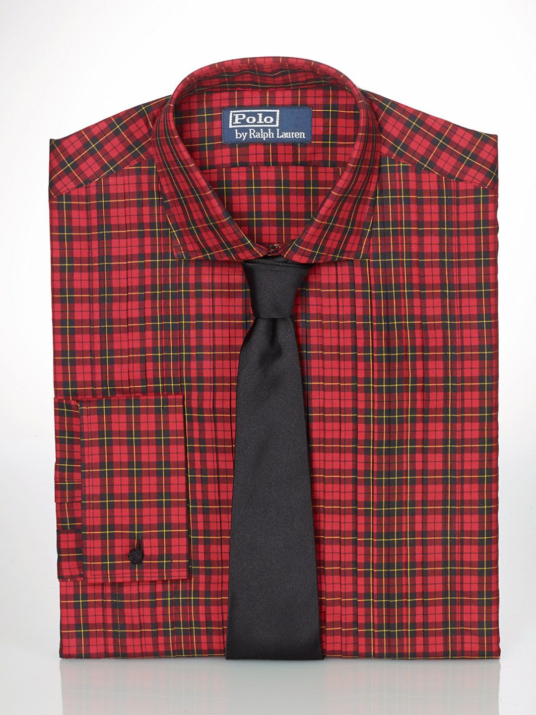 Plaid dress shirt with French cuff from Ralph Lauren.