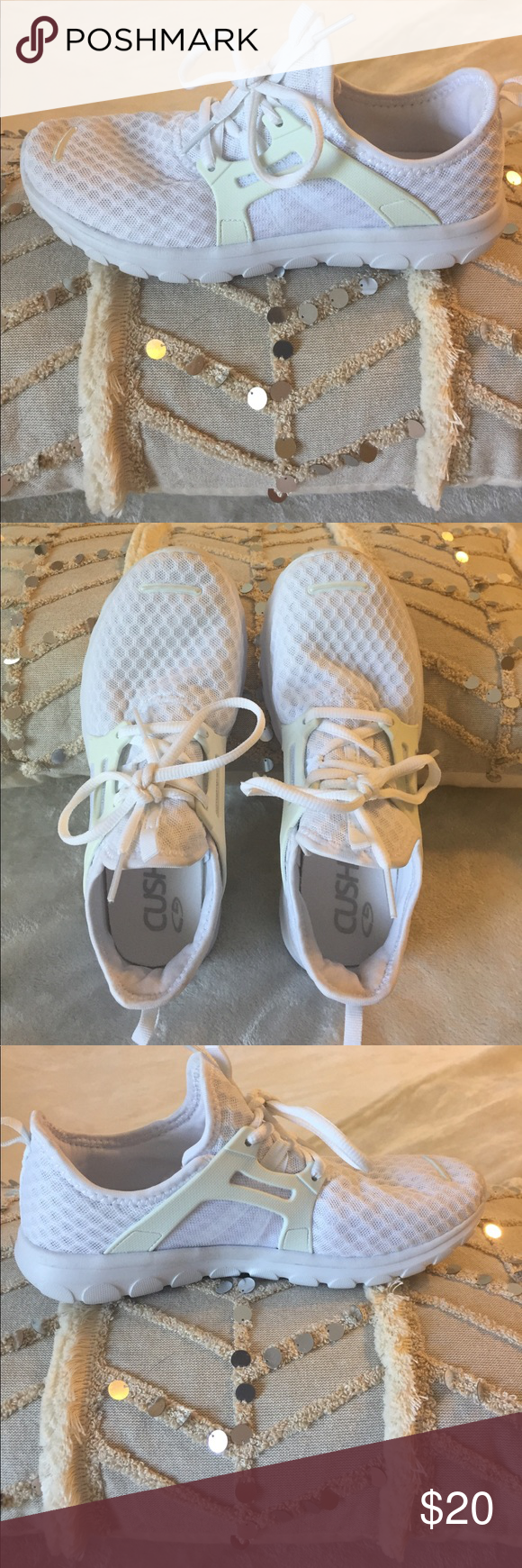 696514d785e White cushion fit shoes Brand new white cushion fit shoes from target.  Women s size 6. Super comfy and super cute Shoes Sneakers
