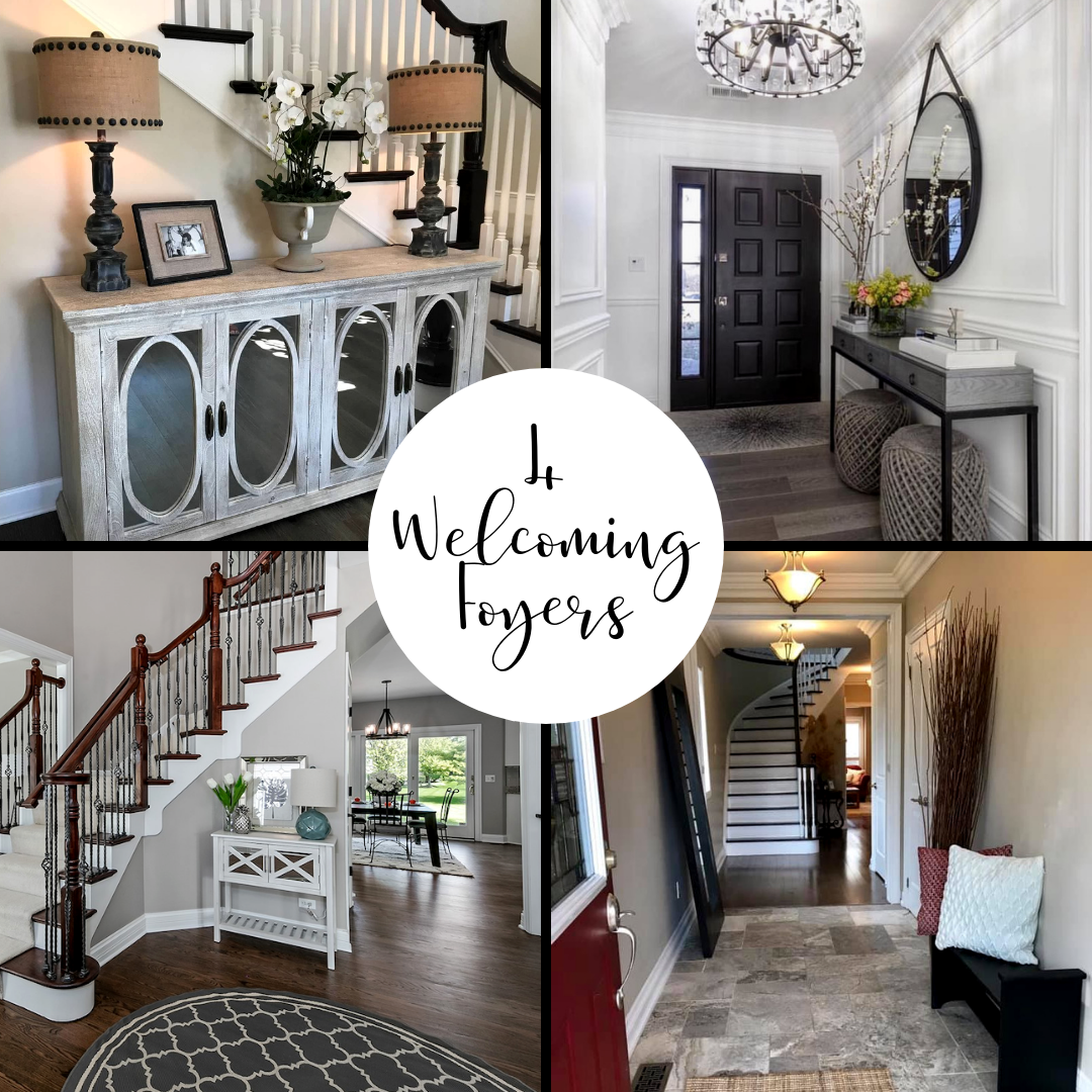 Home Staging Gallery: A Beautifully Staged Foyer Makes A Great First Impression