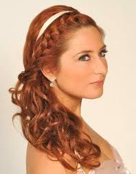 Now this I like... combo of the braid and the hair down like i want at the reception...