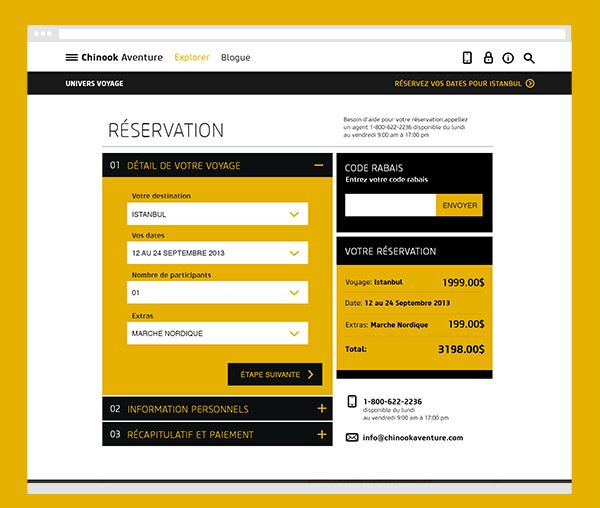 Reservation Form Well Organized Simple Color Combination  Web