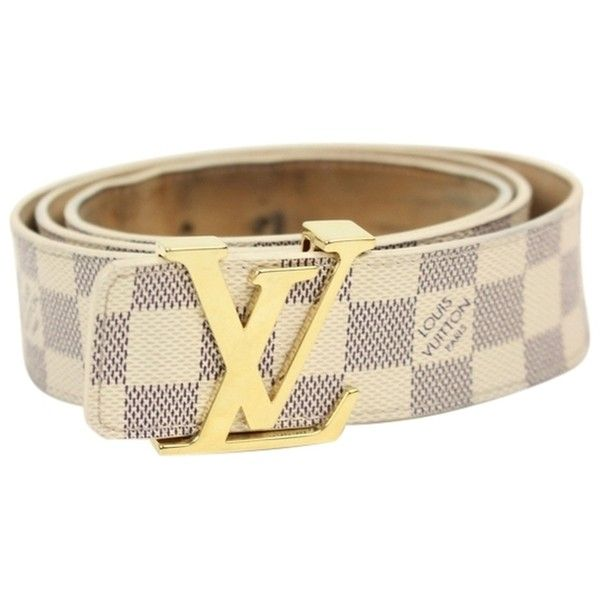a1a492aafc1 Pre-owned Damier Azur Initials Belt Sz 44 ($400) ❤ liked on ...