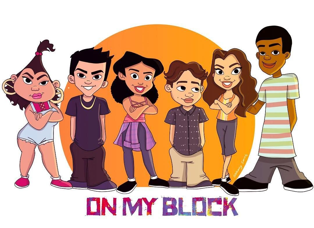On My Block Blocks Black Girl Cartoon
