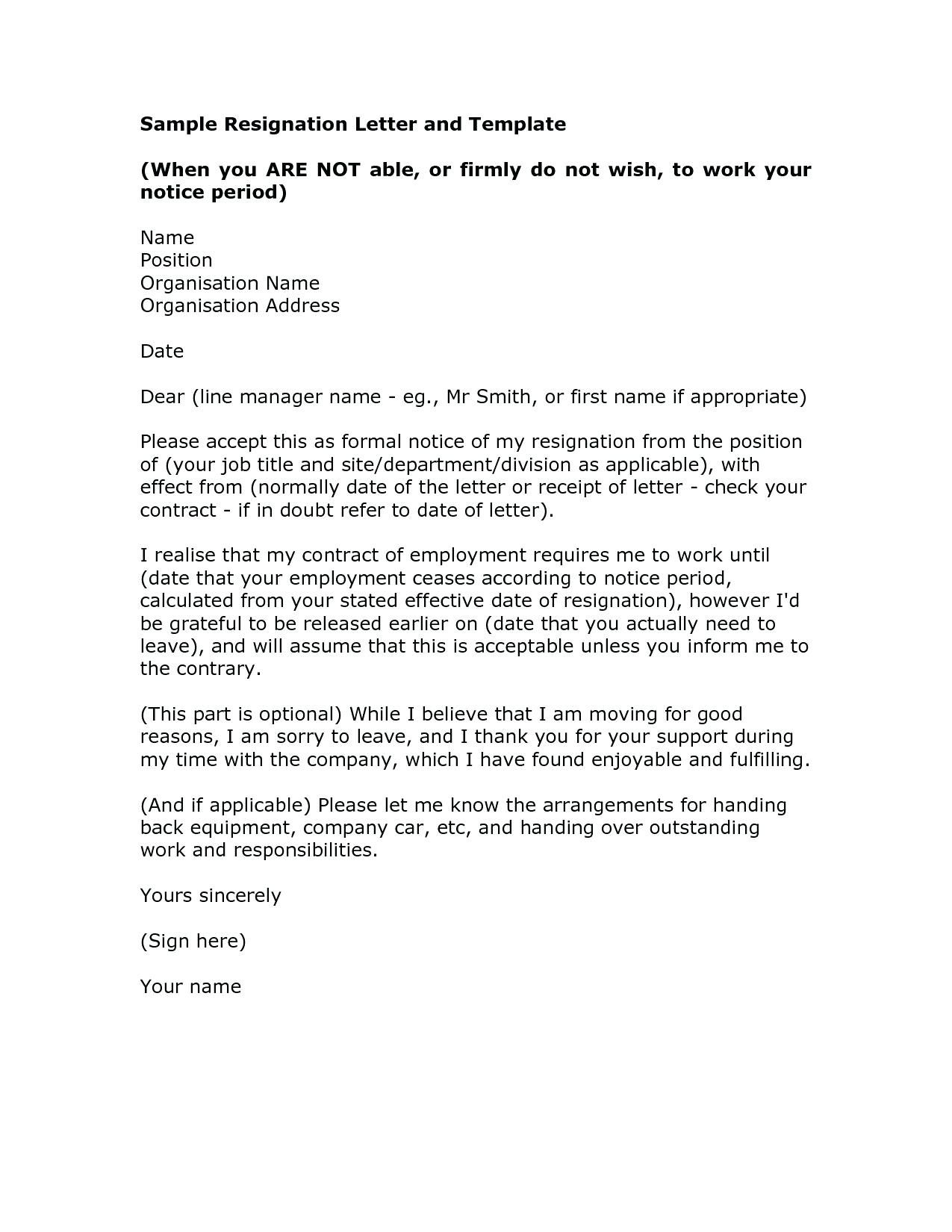 Leave You Job with Outstanding Resignation Letter Template