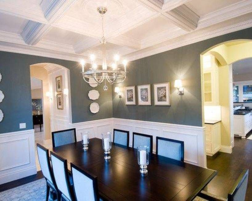 Wainscoting Ideas For Dining Room Part - 37: Dining Room , Dining Room Wainscoting Ideas : Dining Room Wainscoting  Formal White Trim And Decorated