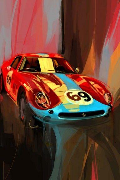 A stunning display of a Ferrari by artist Swaroop Roy  #ferrari #car #art #artwork