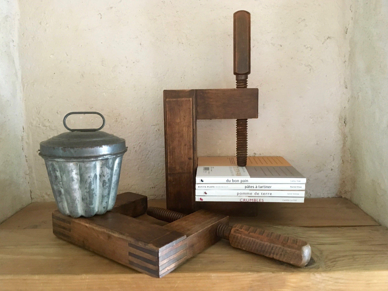 Trouver Un Artisan Menuisier serre livre en bois ancien serre-joint menuisier french
