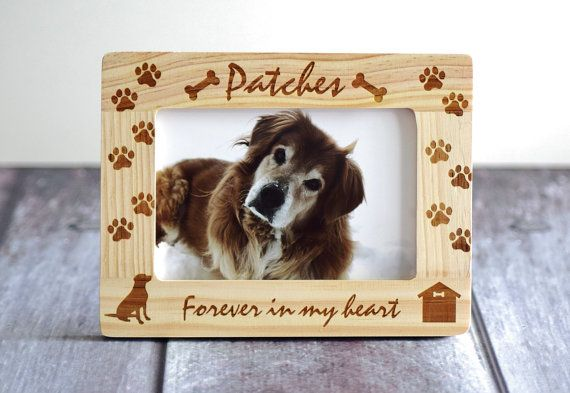 Pet memorial frame Dog memorial frame Forever by CustomWoodWonders ...