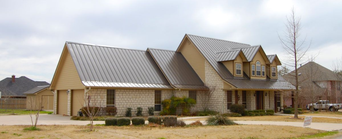 Residential Metal Roofs Bradberry Builders Supply House Roof Tin Roof House Metal Roof