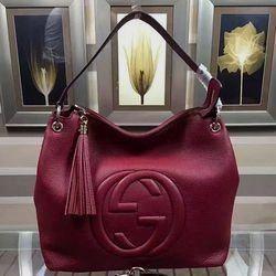 2184101b9b6 Gucci Soho  Leather Hobo Bag Red 408825  leatherhobobags hobo  purses and  bags