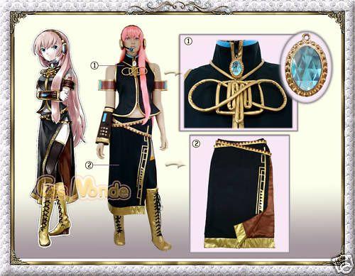 Vocaloid 2 Megurine Luka Cosplay Costume