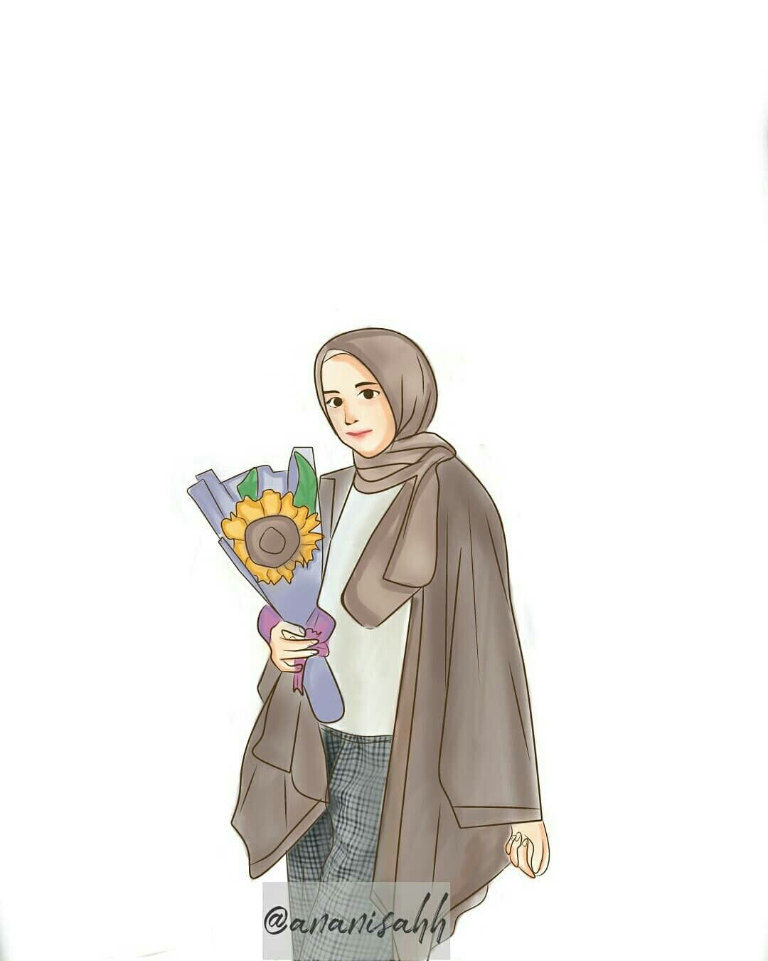 Pin Oleh Misznyna Di Kartun Muslimah Kartun Ilustrasi Karakter Sketsa
