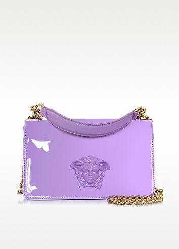 9c87e9e8f2c7 VERSACE Palazzo Lilac Patent Leather Shoulder Bag.  versace  bags  shoulder  bags  hand bags  polyester  lining  patent